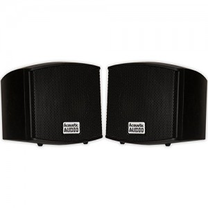 Acoustic Audio AA321B Surround Speakers, Black, Set of 2