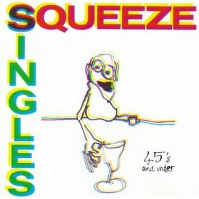 Squeeze Singles 45's and Under Original A&M Records release SP 4922 1980's British New Wave Vinyl (1982)