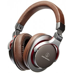 Audio-Technica ATH-MSR7GM SonicPro Over-Ear High-Resolution Audio Headphones, Gun Metal Gray