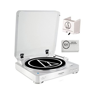 Audio-Technica Bluetooth Turntable (White) ATLP60BT + ATN3600L Extra Stylus