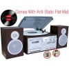 Boytone BT-28SPS, Bluetooth Classic Style Record Player Turntable with AM/FM Radio, Cassette Player, CD Player, 2 Separate Stereo Speakers, Record ...