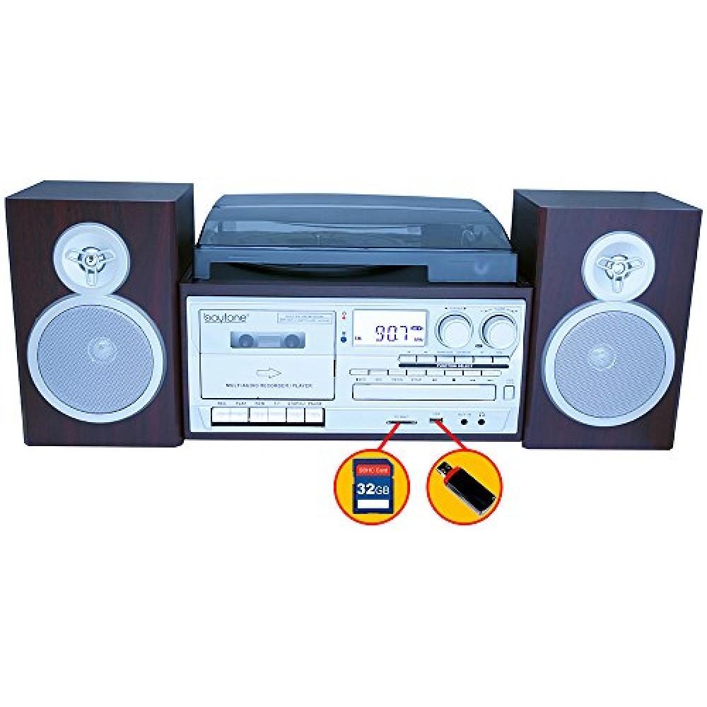 Boytone Bt 28sps Bluetooth Classic Style Record Player