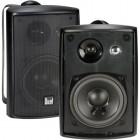 Dual Electronics LU43PB 4 inch 3-Way High Performance Indoor, Outdoor & Bookshelf Studio Monitor Speakers with Swivel Brackets & 100 Watts Peak Pow...