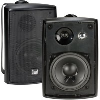 Dual Electronics LU43PB 4 inch 3-Way High Performance Indoor, Outdoor & Bookshelf Studio Monitor Speakers with Swivel Brackets & 100 Watts Peak Pow...