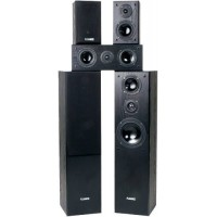 Fluance AVHTB Surround Sound Home Theater 5.0 Channel Speaker System including Three-way Floorstanding Towers, Center and Rear Speakers