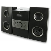 GPX HC425B Stereo Home Music System with CD Player & AM/FM Tuner, Remote Control
