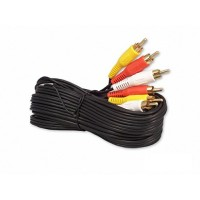 iMBAPrice RCA M/Mx3 Audio/Video Cable Gold Plated - Audio Video RCA Cable (3-RCA - 12 Feet)