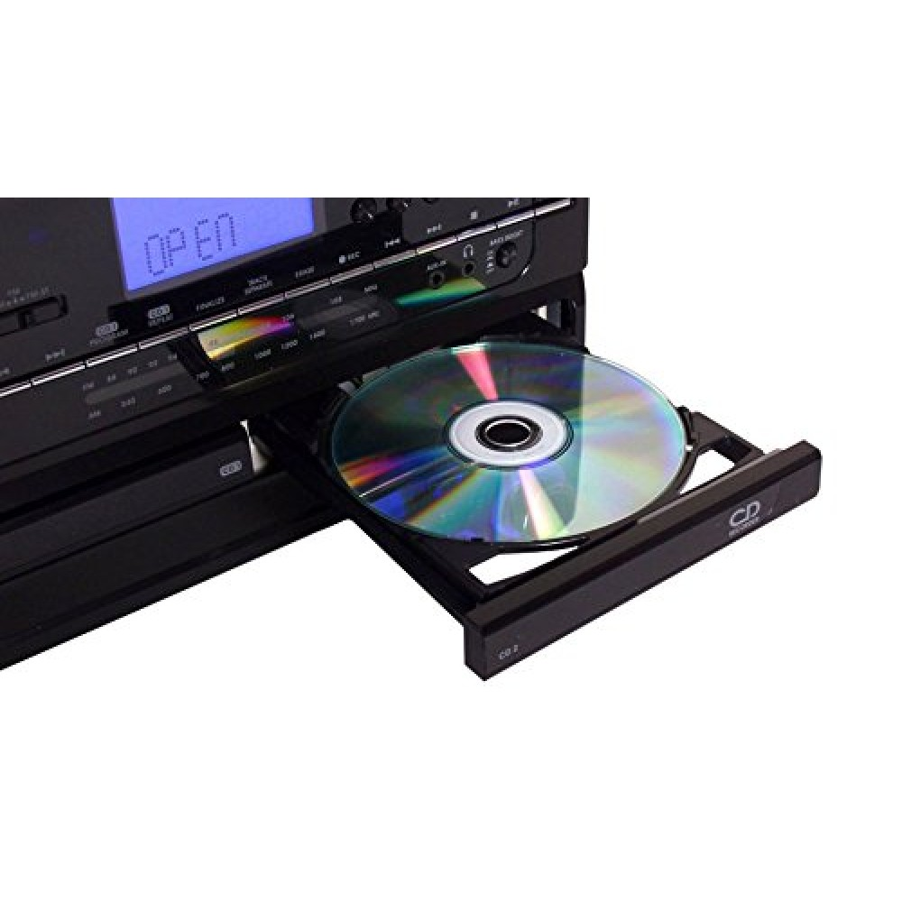 Jensen All In One Hi Fi Stereo Dual Cd Player Turntable