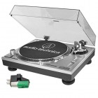 Audio-Technica AT-LP120-USB Professional Turntable (Silver) and Extra AT95E Dual Mount Cartridge