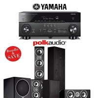 Yamaha AVENTAGE RX-A760BL 7.2-Channel Network A/V Receiver + Polk Audio TSi 500 + Polk Audio TSi 200 + Polk Audio CS10 + Polk Audio PSW110 - 5.1 Ho...