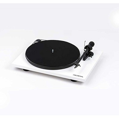 Pro-Ject Essential III Belt-drive Turntable with Ortofon OM10 Cartridge (Gloss White)