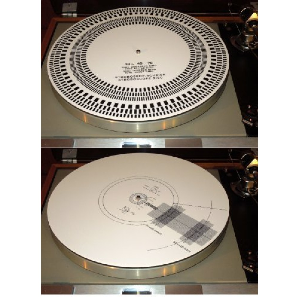Acrylic Turntable Mat Cartridge Alignment Protractor