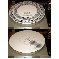 Acrylic Turntable Mat Cartridge Alignment Protractor Strobe Disc Stroboscope