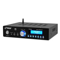 200 Watt Audio Stereo Receiver - Wireless Bluetooth Home Power Amplifier Home Entertainment System w/AUX IN, USB Port, DVD CD Player, AM FM Radio, ...