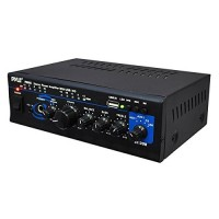 Pyle 2X120 Watt Home Audio Power Amplifier - Portable 2 Channel Surround Sound Stereo Receiver w/ USB IN - For Amplified Subwoofer Speaker, CD DVD,...