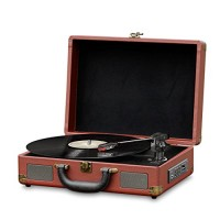 Record Player Turntable  Old Fashioned Bluetooth  Vinyl-to-MP3 Recording, MP3/USB/SD Readers, Briefcase-Style With Built In Speaker By Pyle -Brown ...