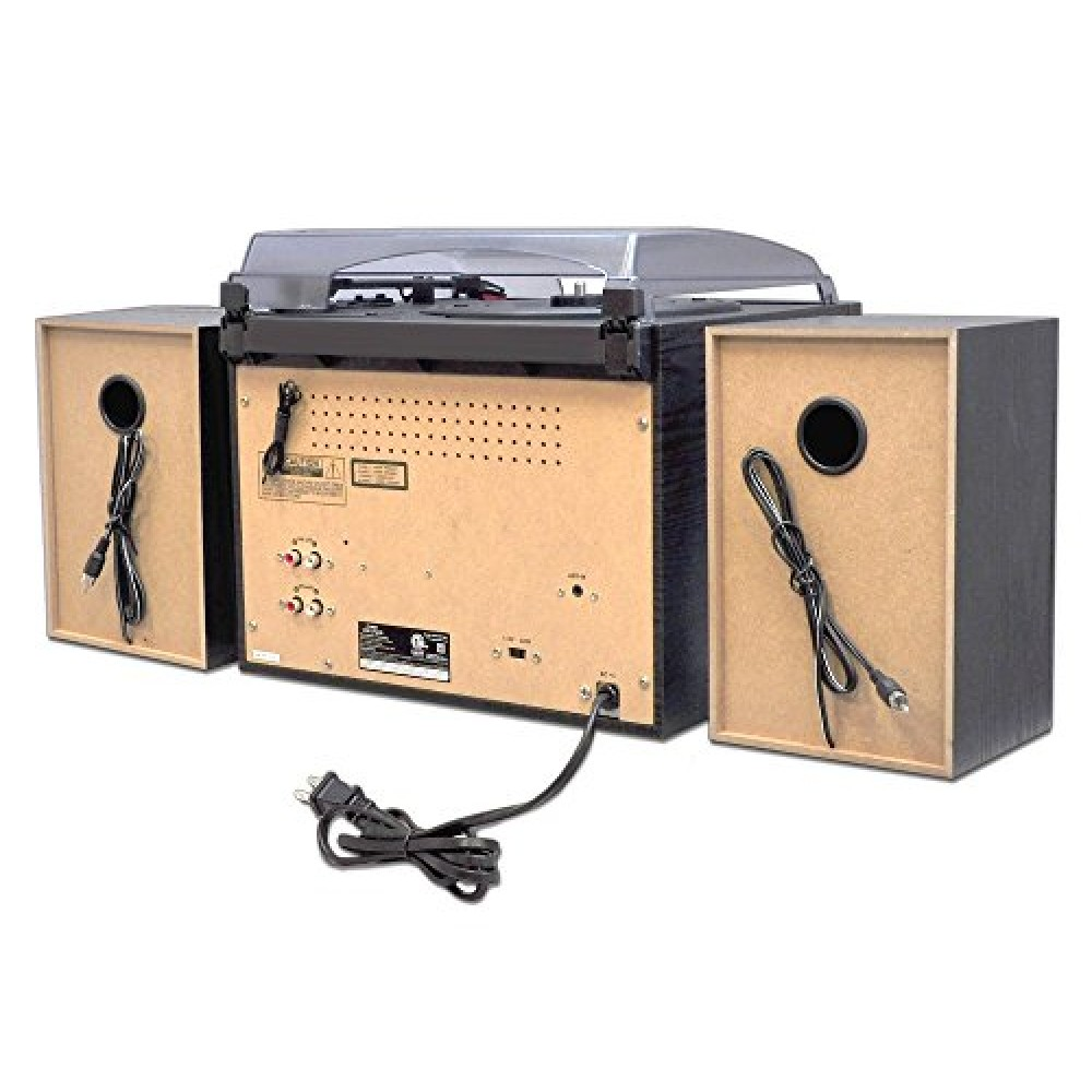 Pyle Pttcsm70bt Bluetooth Classic Style Record Player