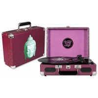 Vinyl Styl Groove Portable 3 Speed Turntable (Buddha Design)